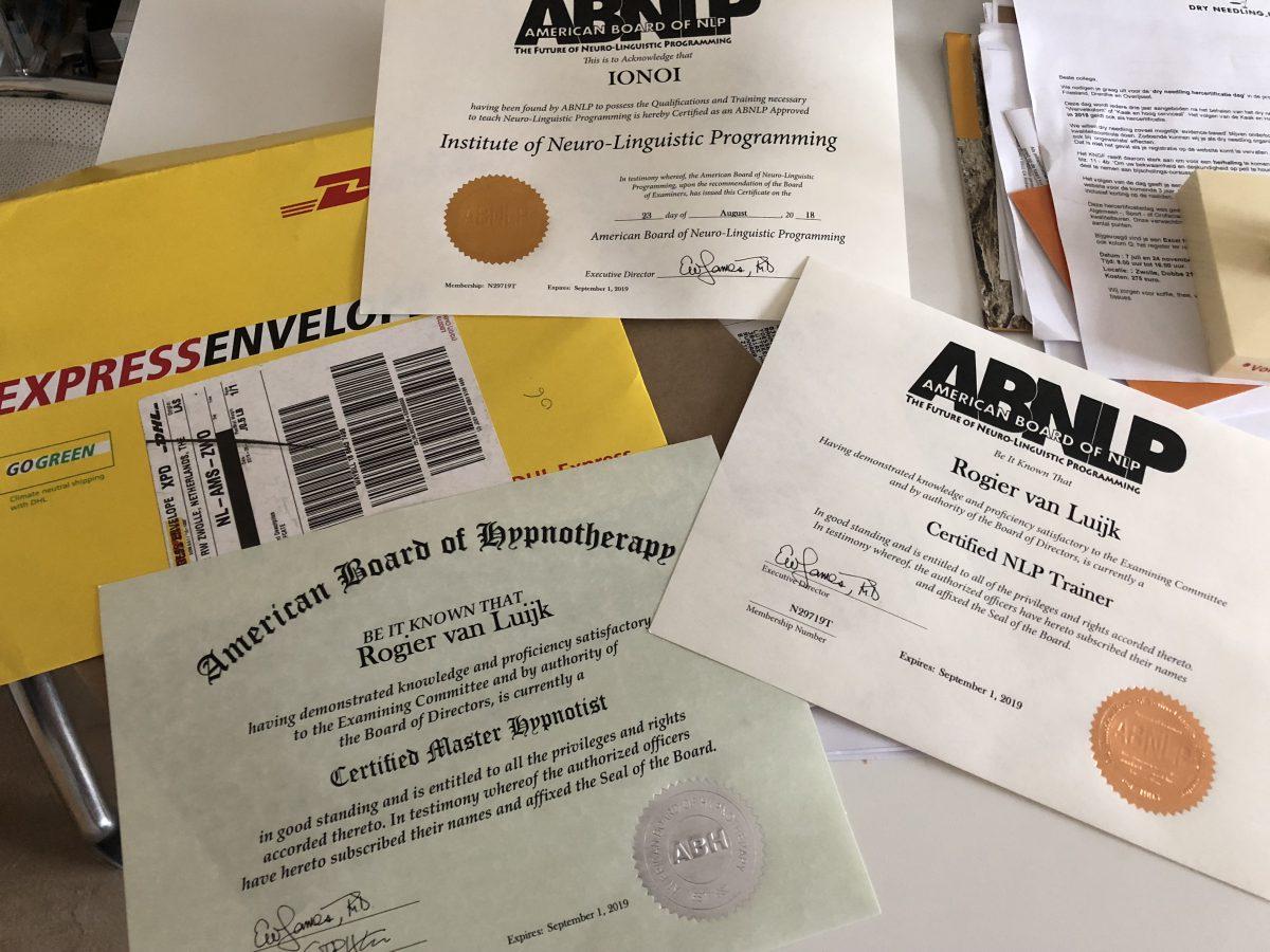 De certificaten voor 2019 zijn binnen